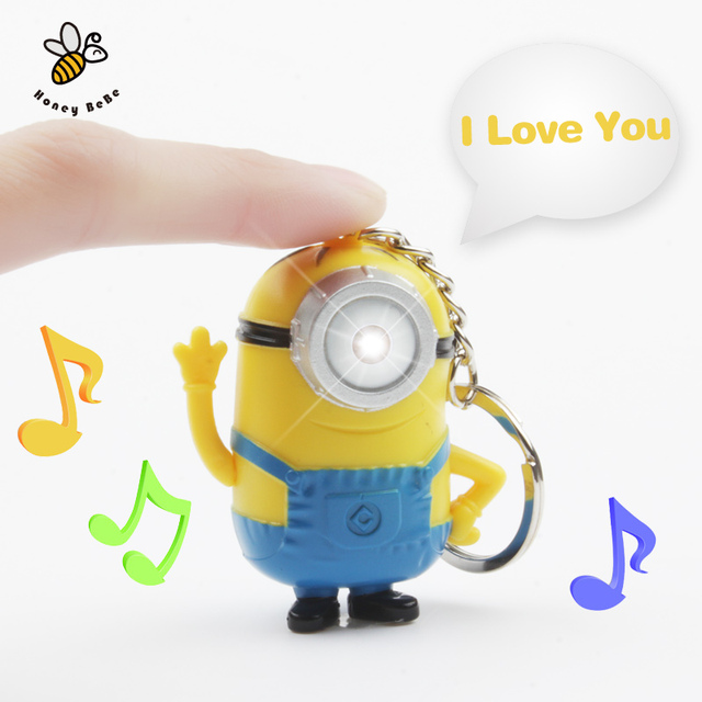 3D Minions Cartoon Movie Despicable Me Keychains Doll Action Figure