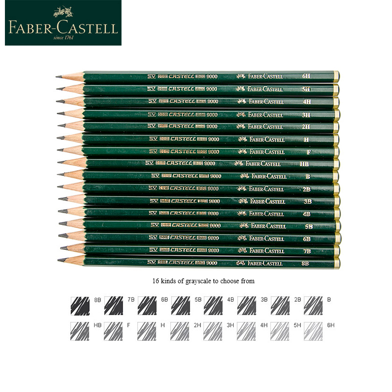 Faber-Castell 9000 Pencils 12/16 Pcs Set School Pencil Graphite Pencil For Drawing And Sketching Pen Set