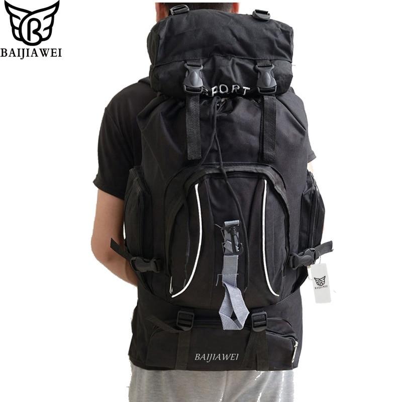 BAIJIAWEI 60 Liters Large Capacity Multifunction Travel Backpacks  For Man and Women Trekking Rucksacks Backpacks Foldable Bags