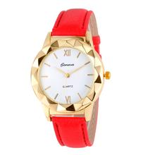 JINEN новые модные Для женщин кожаный ремешок роскошные часы Повседневное аналоговые кварцевые часы Бизнес элегантный круглый Форма наручные часы