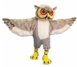 Owl Long Hair Mascot Costumes For Adults Christmas Halloween Outfit Fancy Dress Suit Free Shipping 2019New