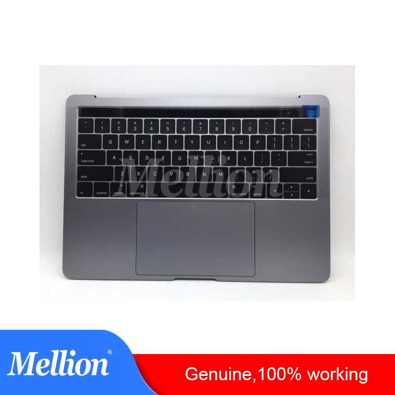 Original A1706 Laptop TopCase with Battery Touchpad Keyboard for MacBook Pro 13 2016 2017 US Layout SILVER SPACE GREY image