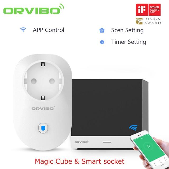 Оригинальный Orvibo Magic Cube Универсальный Smart ПДУ и B25 Wi Fi беспроводной управление разъем для Умный дом автоматизации