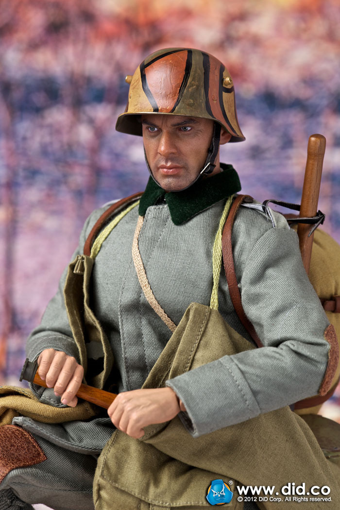 DID1/6 Scale doll World War I 6th Infantry Assault Battalion 1917-1918 Lutz Fedder,Soldier 12 Figure model toy finished product