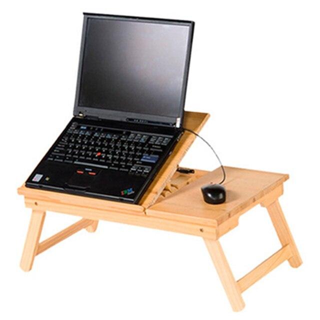 Escritorio de la computadora ajustable de madera port til mesa plegable port til plegable - Mesa para ordenador portatil ...