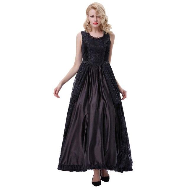 35ee64e22215 Belle Poque Women Summer Sexy Floral Lace Velvet Gothic Style Vestidos 50s  60s Retro Female Maxi Rockabilly Ladies Elegant Dress