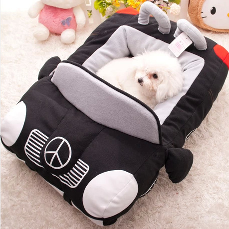 Cute Cartoon Small Dog Sofa Bed House For Chihuahua Winter Fleece Warm Luxury Cat