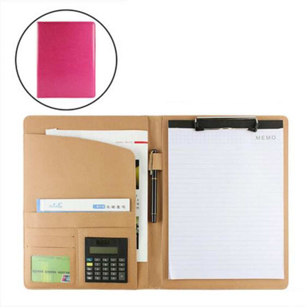 Free shipping A4 file bag size leather shell business folder fichario papelaria documento bolsa paper documents /W007