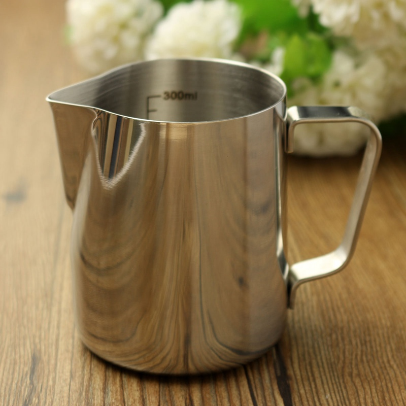 Coffee Pitcher Stainless Steel Milk Frothing Jug 350ml Espresso Barista Craft Coffee Latte Milk Frothing Jug Kitchen Home цена