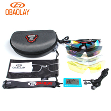 купить OBAOLAY Polarized Cycling Glasses Men Bike Mountain Goggles Eyewear Gafas Bicycle Sunglasses 2019 Oculos Ciclismo Occhiali дешево