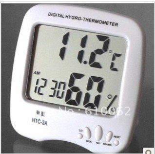 Digital LCD Hygro & thermometer, Thermometer Humidity Meter Thermometer Clock Hygrometer , Free Shipping mini digital lcd thermometer humidity