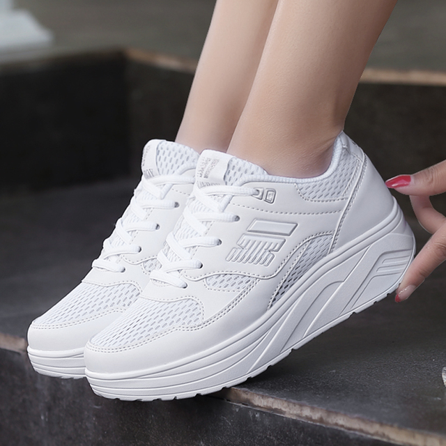 b98581f4a1a2 NEW summer running shoes female swing shoes women s sports shoes thick  bottom swing shoes women s Sneakers