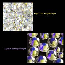 1 Bag 1440pcs Nail Rhinestones Crystal Starry Sky Colorful Flatback Diamond ss3 - ss30 Mixed DIY Charm Decor Art Accessory