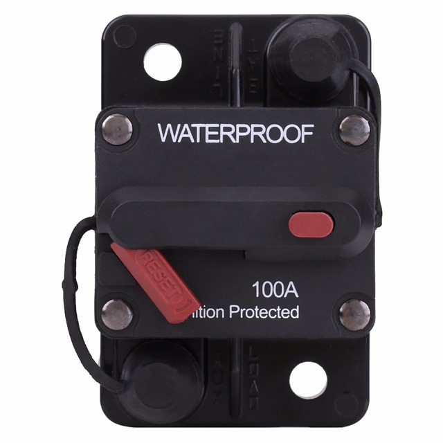 new arrive 100a waterproof circuit breaker with manual reset button RV Breaker Box  RV Panel Box new arrive 100a waterproof circuit breaker with manual reset button fuse inverter for car rv marine