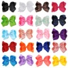 6 Inch 20 Pcs Lot Mixed Large Double Layers Hairbow Baby Girls Hair Bows Clips