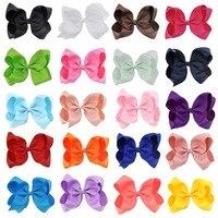 20 Sztuk/partia 6 Cal Dziewczyny Hairbow dzieci spinki do włosów spinki do włosów dla dzieci Noworodka Dziewczyny Włosy Łuki Klipy akcesoria Do Włosów