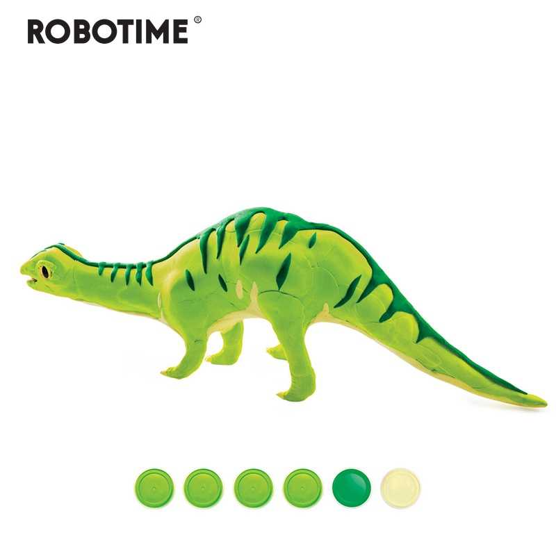 Robotime Creative DIY Polymer Brontosauru Clay Slime Fluffy Light Soft Plasticine Toy Modelling Clay Playdough Slimes Toys FY04