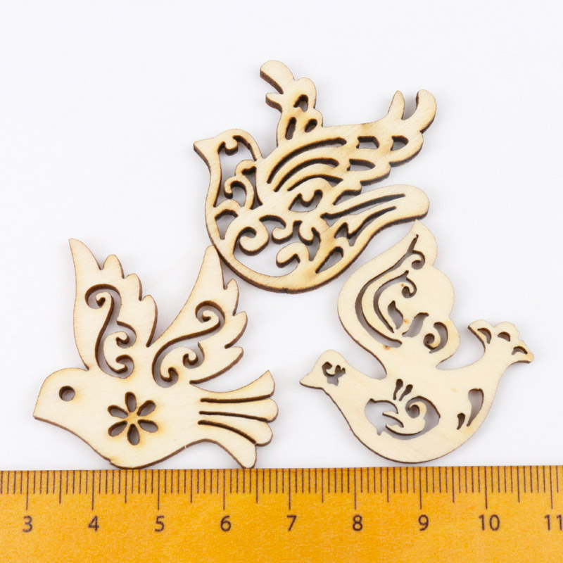 Mix Wooden Bird Pattern Scrapbooking Art Collection Craft For Handmade Accessory Sewing Home Decoration 31x33mm 20pcsMix Wooden Bird Pattern Scrapbooking Art Collection Craft For Handmade Accessory Sewing Home Decoration 31x33mm 20pcs