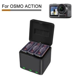 Image 1 - Voor DJI OSMO ACTION Snel Opladen Een Drag Drie Lader Opslag Type Opladen Doos OSMO ACTION Accessoires