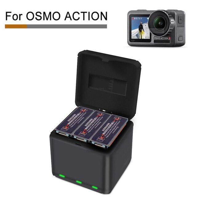 Voor DJI OSMO ACTION Snel Opladen Een Drag Drie Lader Opslag Type Opladen Doos OSMO ACTION Accessoires