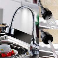 Grifo de cocina flexible, mezclador de cocina, grifo de cocina frío y caliente, grifo de agua de un solo agujero, cocina mitigeur