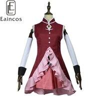 Free Shipping Anime Puella Magi Madoka Magica Sakura Kyoko Cosplay Costume Custom Made Any Size