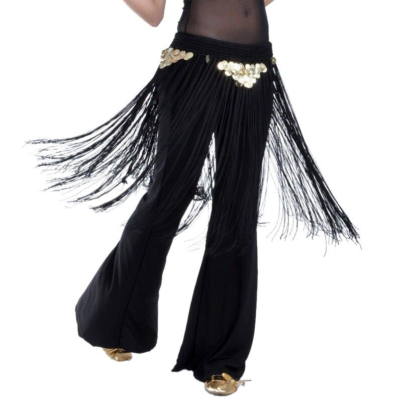 2018 Belly Dance Hip Scarf Belt Tribal Fringe Tassel Women Bellydance Oriental Dance Scraf  Skirt Dancewear 7 Colors (no pants)