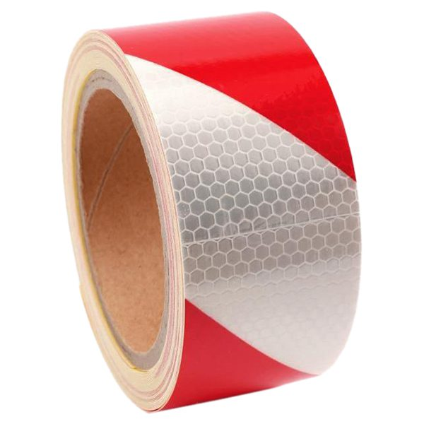 10m x 5cm Safety Warning Tape Reflective Tape Self adhesive Tape Reflective Strip Traffic Reflective Stickers Color  red   white
