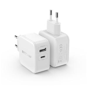 Image 2 - BlitzWolf 30 واط Type C الهاتف PD شاحن QC3.0 + 2.4A المزدوج USB سريع شاحن الاتحاد الأوروبي التوصيل محول التيار الكهربائي آيفون 12 Mini Pro Max