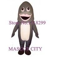 Mascota Rosa labios gris tiburón mascota Mar Animales traje adulto tiburón de dibujos animados tema anime Cosplay disfraces KITS DE DISFRACES