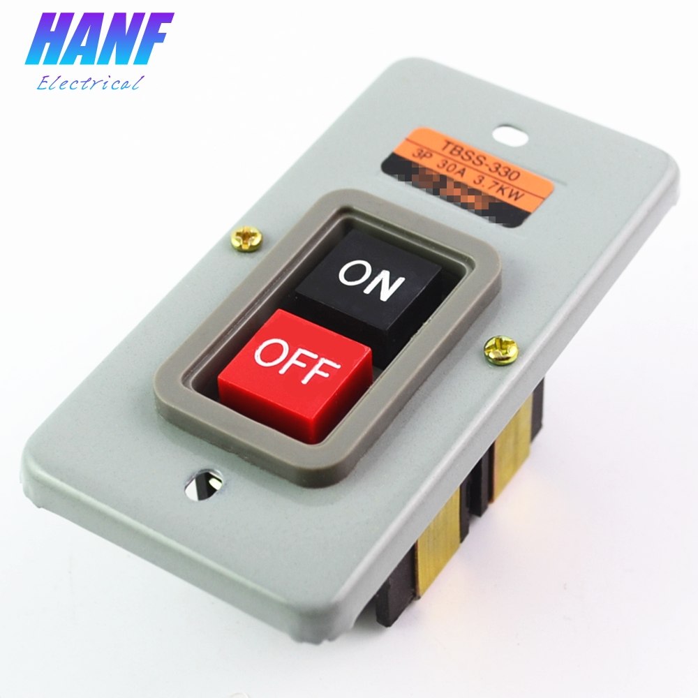 1pcs 3P 30A 3.7KW Motor Control Start Stop ON/OFF Control Push Button Switch TBSS-330 Start Switch цена