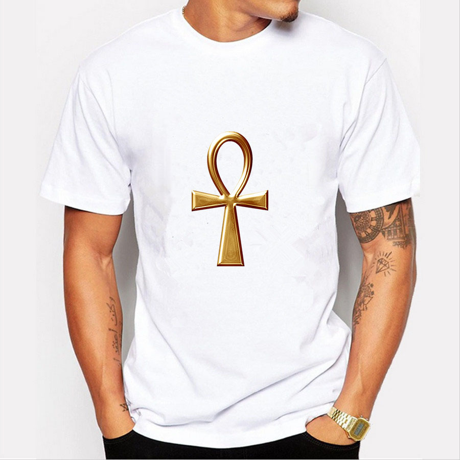 New Men Funny Design T Shirt Fashion White Print Short Sleeve O-neck Boy T-shirt Funny H ...