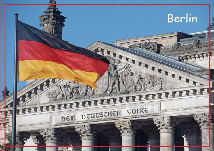 Reise-Kühlschrankmagnete 78 * 54mm, Deutschland Platz der Republik - Wohnkultur
