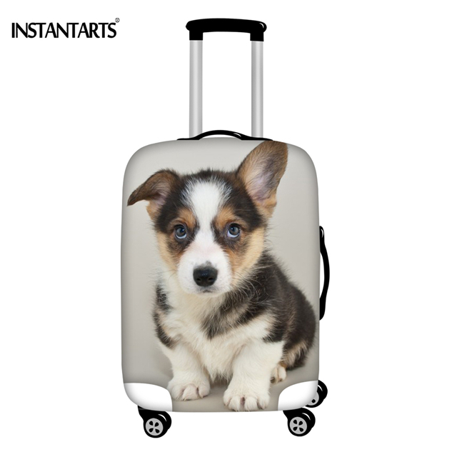 Short Legs Corgi Suitcase Protective Bag Cover Spandex Luggage Cover for Travel