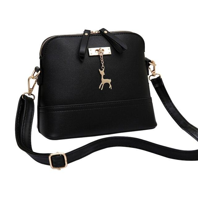 2017 Women Candy Color Messenger Bags Fashion Mini Bag With Deer Toy Shell Shape Bag Women Shoulder Crossbody Bag Free Shipping