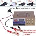 Totalmente Automático Carregador de Bateria de Carro 110 V-220 V para 12 V/24 V Elétrico de Reparação de Pulso Inteligente tipo de Manutenção 100AH 10A Display LED