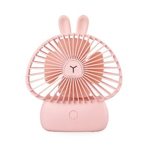 USB Charging Cooler Mini Portable Bunny Handheld Fan Cooling Electric Fan with Lights for Home Office Desktop Outdoor Fans