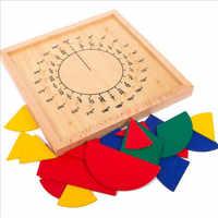 Baby Kind Frühen Pädagogisches Spielzeug Rund Mathematik Bruchteil Division Lehre Montessori Bord Holz Spielzeug Geschenk Mathematik Spielzeug