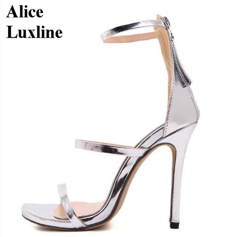 Aliexpress.com : Buy New 2017 Silver Gold Black women Gladiator ...