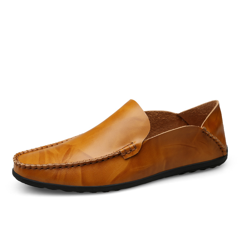 Men Loafers PU Leather British Business Shoes Casual Moccasins Breathable Slip on Black Driving Shoes Plus Size 38 46 in Men 39 s Casual Shoes from Shoes