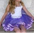 Pettiskirt Tutu Skirt Girls Ribbon Chiffon Party Dance Tulle Skirts For Girls