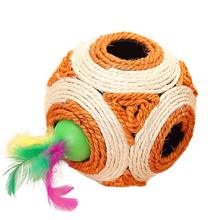 Cat Toy Balls Scratcher Six Holes Sisal Rope Ball Interactive large size