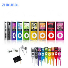 ZHKUBDL 1.8 inch mp4 player 16GB 32GB Music playing with fm radio video player E book built in memory player MP4