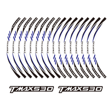 KODASKIN 2D Wheel Rim Emblem Sticker Decal for Yamaha TMAX 530  yzf tmax530 kodaskin 2d printing wheel rim emblem sticker decal for yamaha nmax nmax155 abs