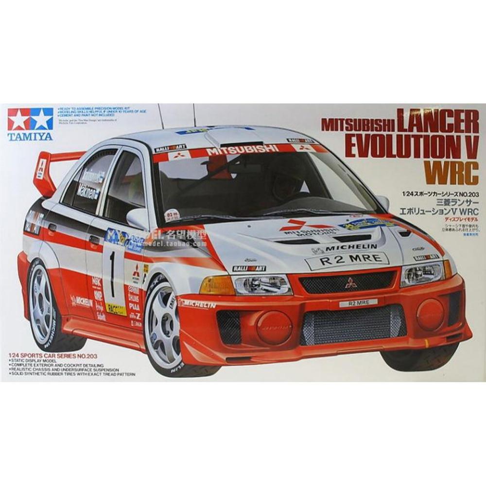 OHS Tamiya 24203 1/24 Lancer Evolution V WRC Scale Assembly Car Model Building Kits oh hasegawa model 1 24 scale civil models 20263 focus rs wrc 04 plastic model kit