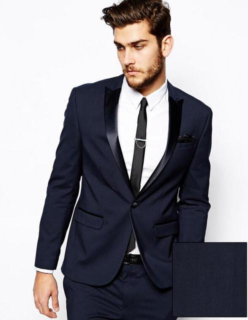 1deef16b3f59f 2015 Kostüm Homme Mariage Moda Erkekler Resmi Takım Elbise Lacivert İş Suit  Erkekler Düğün Suits Mens