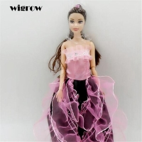 Wigrow One Pcs Princess Doll New Wedding Dress Fashion Clothing 29cm Gown For Baby Hot Dolls Accessories Best Gift for Girls