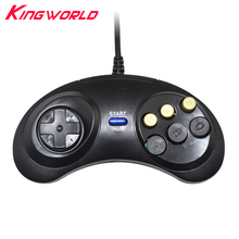 5pcs High quality Classic Wired Game Controller for SEGA Genesis 6 Button Gamepad for SEGA Mega Drive все цены