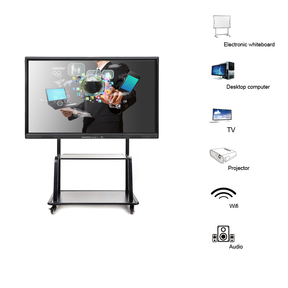84 inch interactive board core i5 large interactive touch screen white board interactive led touch screen display