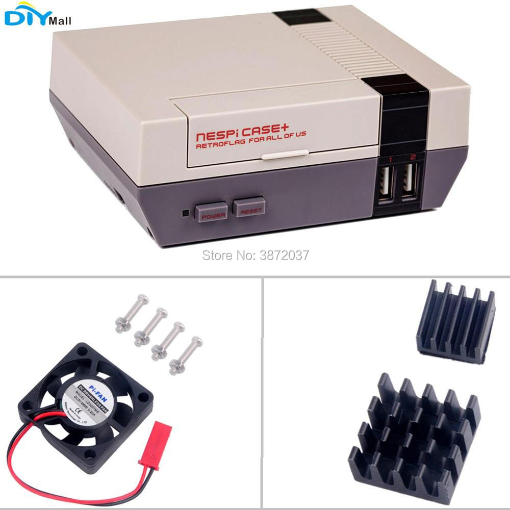 NESPi NES Case Retroflag Box Enclosure Heatsink Cooling Fan for Raspberry Pi Model B+ 2B 3B